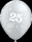 25 latexballon silber.fw
